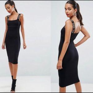 "ASOS Black Jersey 'Love"" Dress"